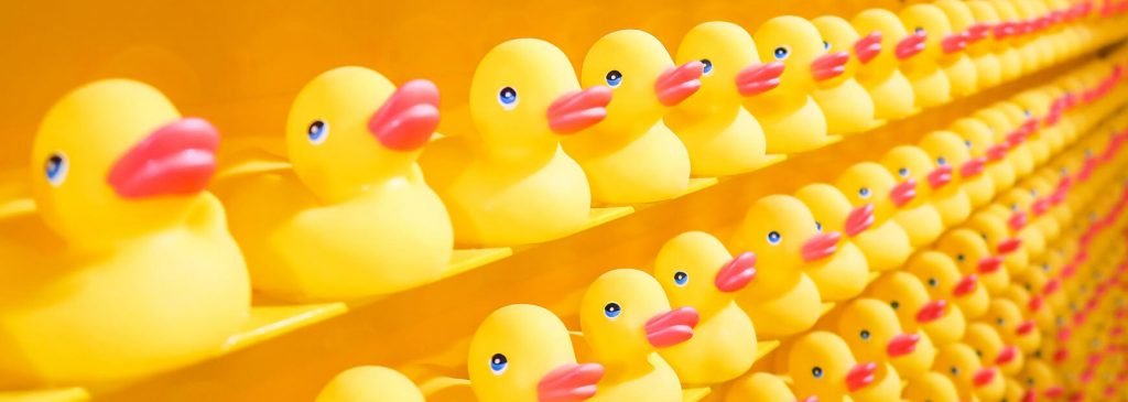 The power of repetition - rows and rows of rubber ducks